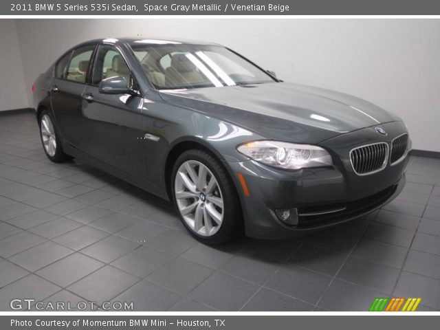 space gray metallic 2011 bmw 5 series 535i sedan venetian beige interior. Black Bedroom Furniture Sets. Home Design Ideas
