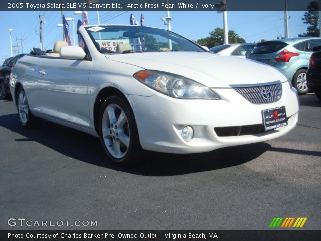 arctic frost pearl white 2005 toyota solara sle v6. Black Bedroom Furniture Sets. Home Design Ideas