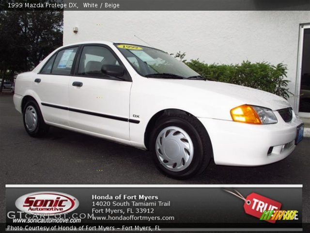 1999 Mazda Protege DX in White