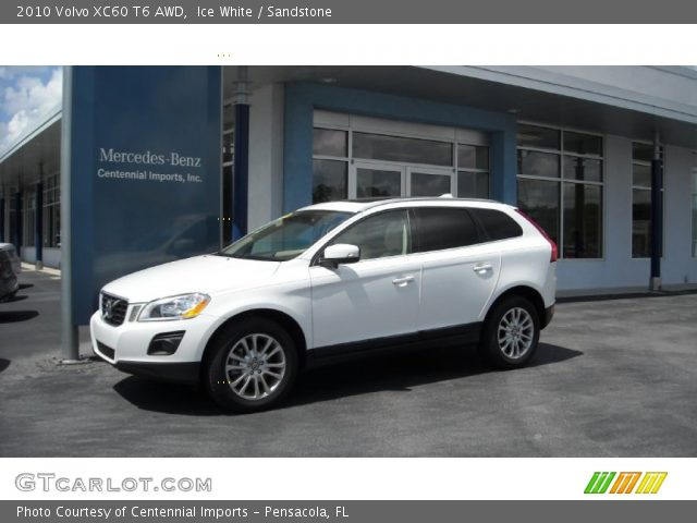 ice white 2010 volvo xc60 t6 awd sandstone interior. Black Bedroom Furniture Sets. Home Design Ideas
