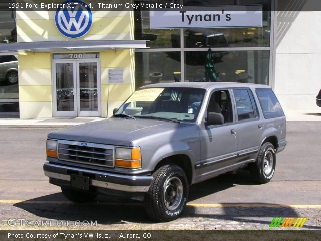 titanium grey metallic 1991 ford explorer xlt 4x4 grey interior vehicle. Black Bedroom Furniture Sets. Home Design Ideas