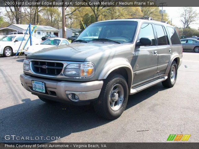 spruce green metallic 2000 ford explorer eddie bauer 4x4. Black Bedroom Furniture Sets. Home Design Ideas