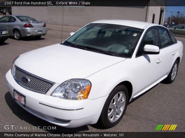 oxford white 2007 ford five hundred sel shale interior vehicle archive 7059753. Black Bedroom Furniture Sets. Home Design Ideas