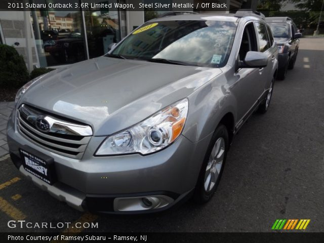 steel silver metallic 2011 subaru outback 3 6r limited. Black Bedroom Furniture Sets. Home Design Ideas