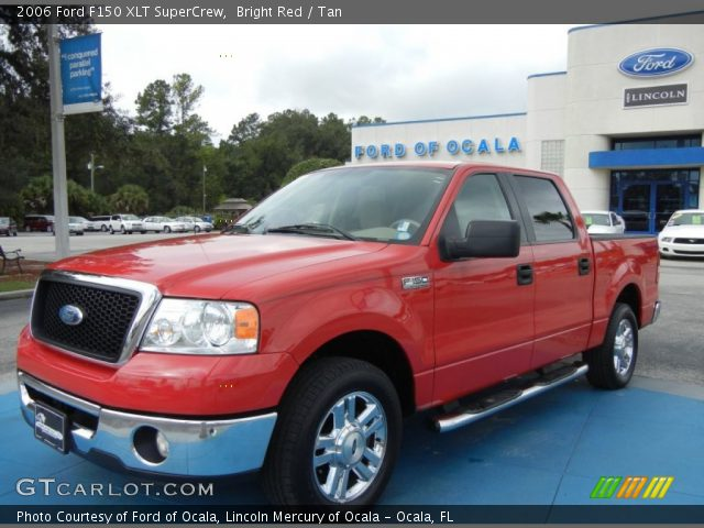 bright red 2006 ford f150 xlt supercrew tan interior. Black Bedroom Furniture Sets. Home Design Ideas
