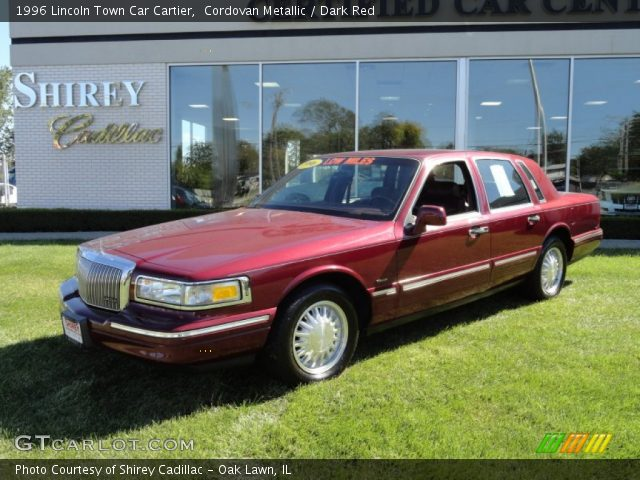 cordovan metallic 1996 lincoln town car cartier dark red interior vehicle. Black Bedroom Furniture Sets. Home Design Ideas