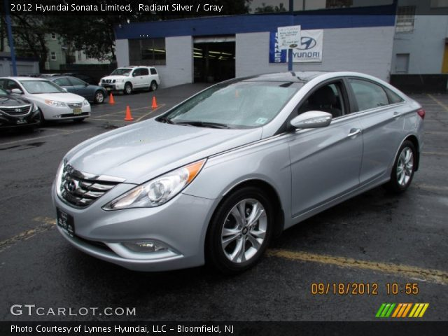 radiant silver 2012 hyundai sonata limited gray interior vehicle archive. Black Bedroom Furniture Sets. Home Design Ideas
