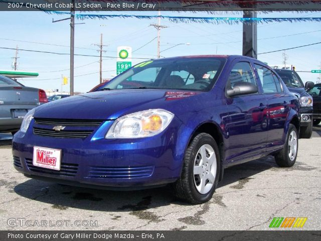 pace blue 2007 chevrolet cobalt ls sedan gray interior. Black Bedroom Furniture Sets. Home Design Ideas