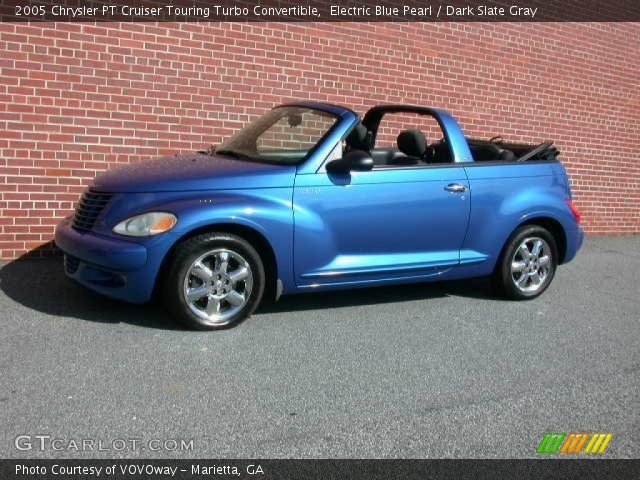 electric blue pearl 2005 chrysler pt cruiser touring turbo convertible dark slate gray. Black Bedroom Furniture Sets. Home Design Ideas