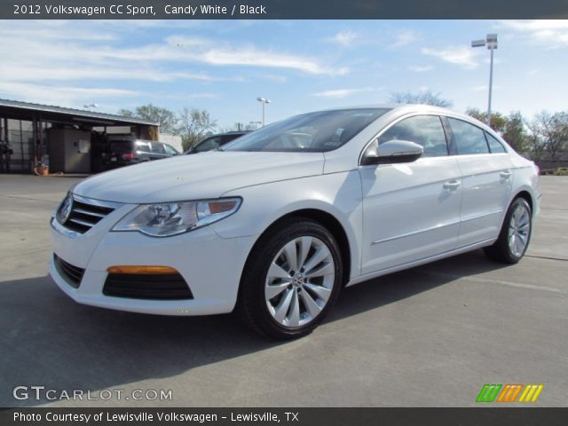 candy white 2012 volkswagen cc sport black interior vehicle archive 71010144. Black Bedroom Furniture Sets. Home Design Ideas