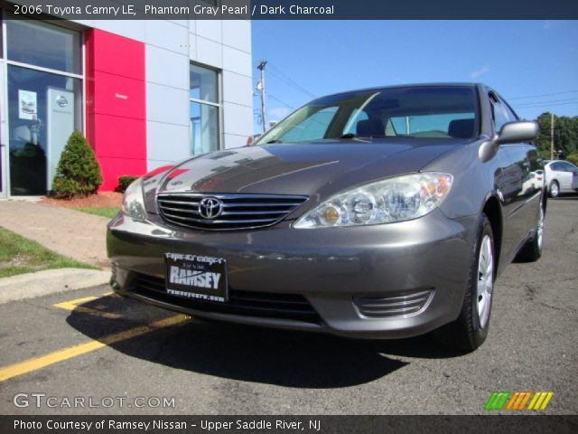 phantom gray pearl 2006 toyota camry le dark charcoal interior vehicle. Black Bedroom Furniture Sets. Home Design Ideas