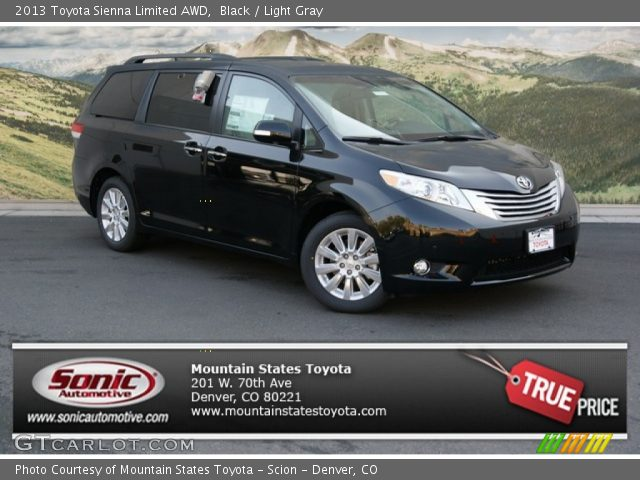 black 2013 toyota sienna limited awd light gray. Black Bedroom Furniture Sets. Home Design Ideas