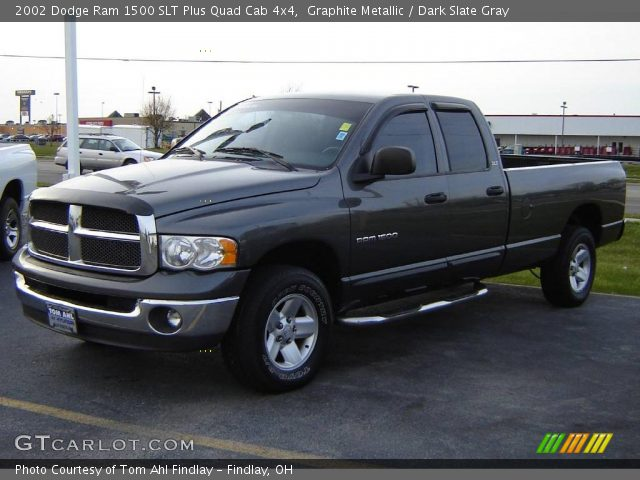 graphite metallic 2002 dodge ram 1500 slt plus quad cab 4x4 dark slate gray interior. Black Bedroom Furniture Sets. Home Design Ideas