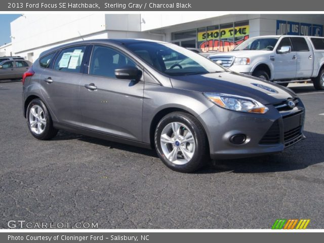 sterling gray 2013 ford focus se hatchback charcoal black interior vehicle. Black Bedroom Furniture Sets. Home Design Ideas