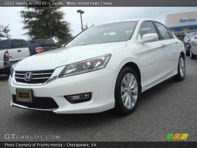 2013 Honda Accord EX-L Sedan in White Orchid Pearl
