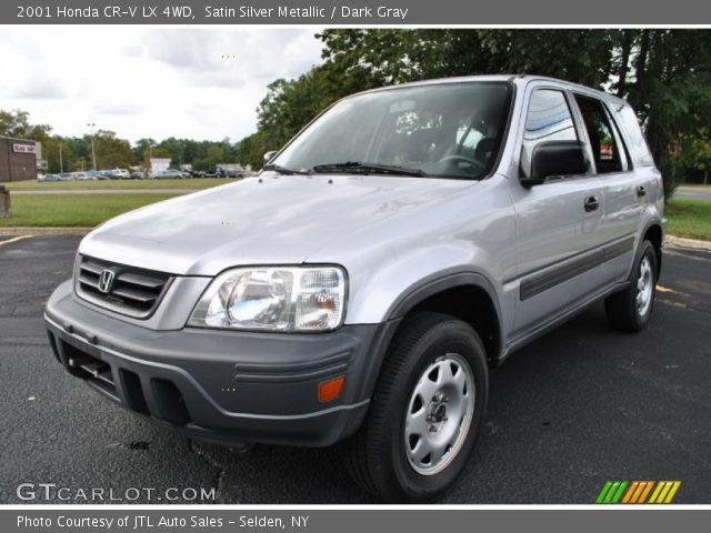satin silver metallic 2001 honda cr v lx 4wd dark gray interior vehicle. Black Bedroom Furniture Sets. Home Design Ideas