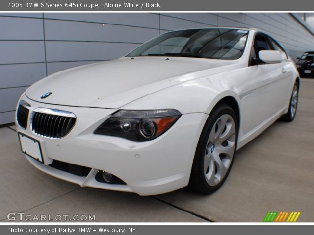 alpine white 2005 bmw 6 series 645i coupe black interior vehicle archive. Black Bedroom Furniture Sets. Home Design Ideas