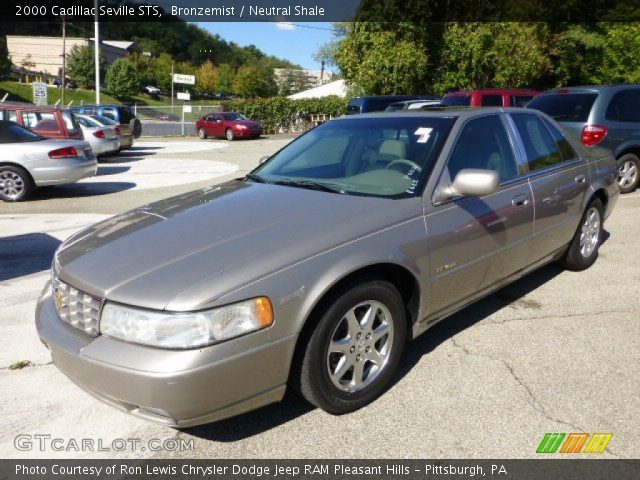 bronzemist 2000 cadillac seville sts neutral shale. Cars Review. Best American Auto & Cars Review