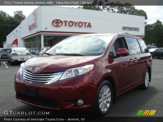 2011 Toyota Sienna Limited AWD in Salsa Red Pearl. Click to see large ...