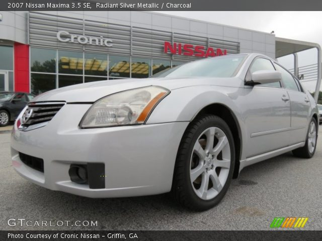 radiant silver metallic 2007 nissan maxima 3 5 se charcoal interior vehicle. Black Bedroom Furniture Sets. Home Design Ideas