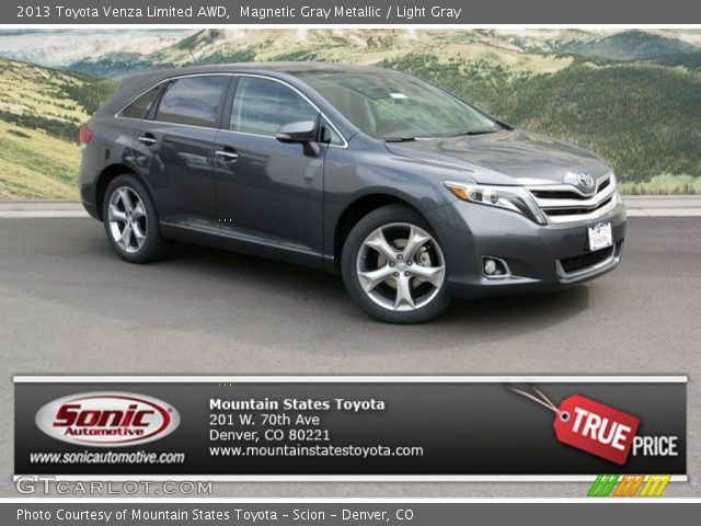 2013 Toyota Venza Limited AWD in Magnetic Gray Metallic. Click to see