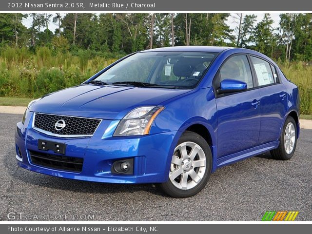 metallic blue 2012 nissan sentra 2 0 sr charcoal interior vehicle archive. Black Bedroom Furniture Sets. Home Design Ideas