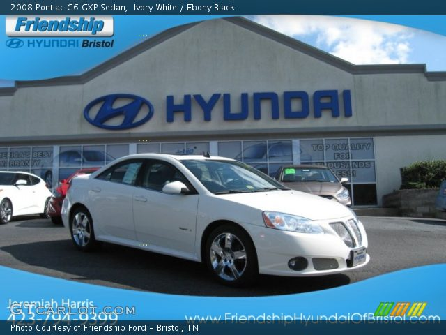 2008 Pontiac G6 GXP Sedan in Ivory White. Click to see large photo.