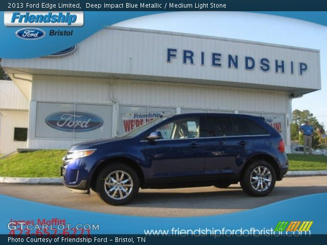 Ford edge limited in deep impact blue gt500