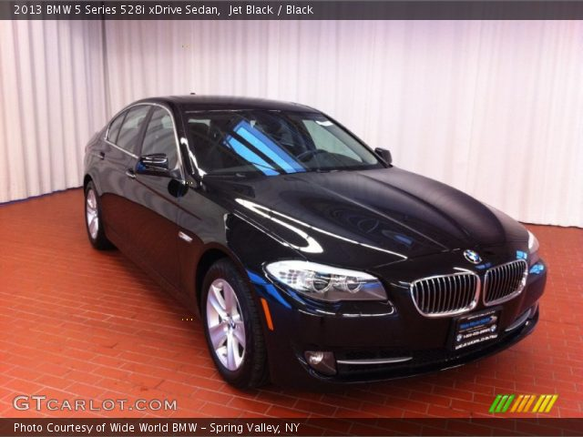 jet black 2013 bmw 5 series 528i xdrive sedan black interior vehicle. Black Bedroom Furniture Sets. Home Design Ideas