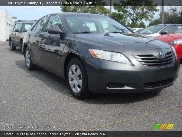 magnetic gray metallic 2008 toyota camry le ash interior vehicle archive. Black Bedroom Furniture Sets. Home Design Ideas