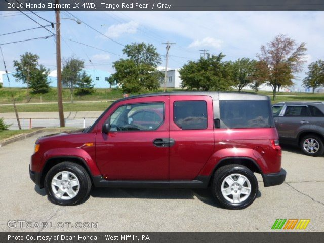 tango red pearl 2010 honda element lx 4wd gray. Black Bedroom Furniture Sets. Home Design Ideas