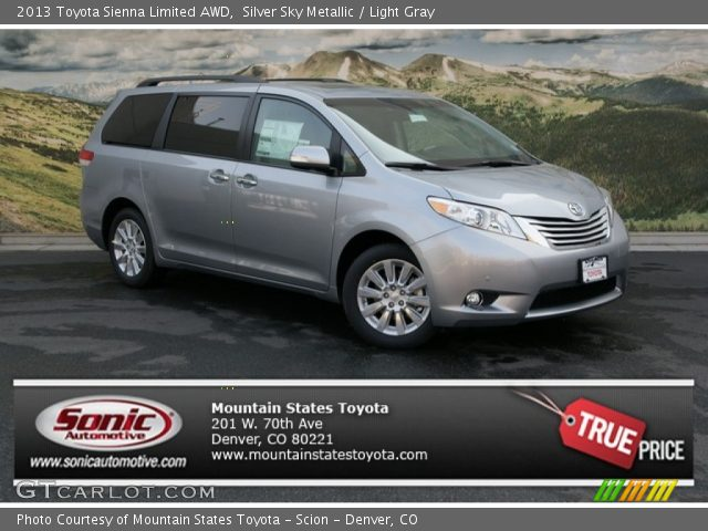 silver sky metallic 2013 toyota sienna limited awd. Black Bedroom Furniture Sets. Home Design Ideas