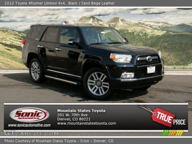 Black 2013 Toyota 4runner Limited 4x4 Sand Beige Leather Interior Vehicle