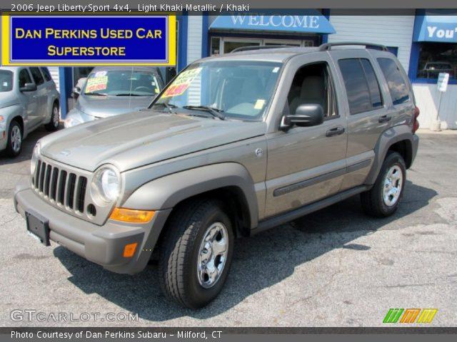 Light Khaki Metallic 2006 Jeep Liberty Sport 4x4 Khaki Interior Vehicle