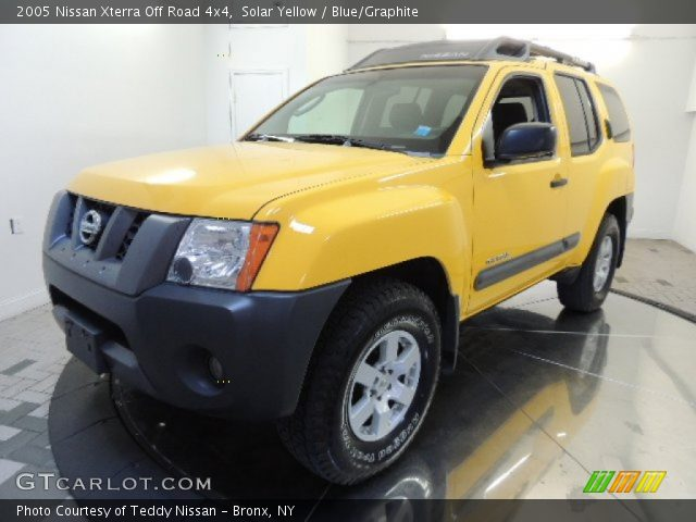 solar yellow 2005 nissan xterra off road 4x4 blue. Black Bedroom Furniture Sets. Home Design Ideas