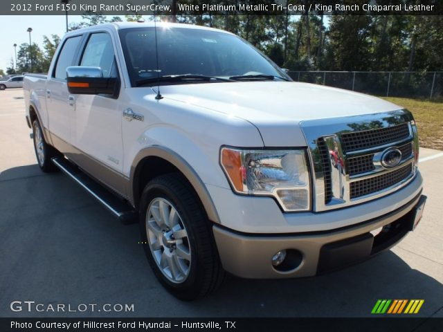 white platinum metallic tri coat 2012 ford f150 king ranch supercrew king ranch chaparral. Black Bedroom Furniture Sets. Home Design Ideas