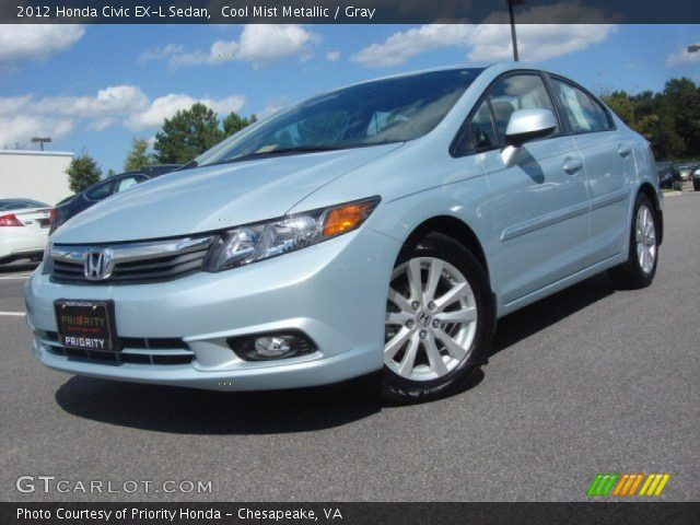 cool mist metallic 2012 honda civic ex l sedan gray interior vehicle. Black Bedroom Furniture Sets. Home Design Ideas