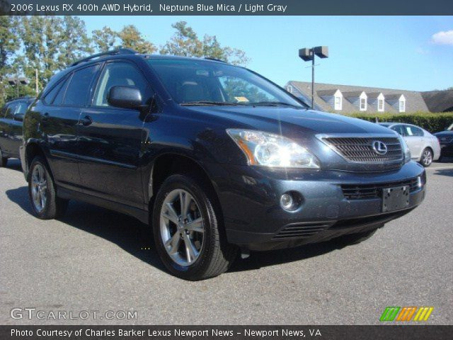 neptune blue mica 2006 lexus rx 400h awd hybrid light. Black Bedroom Furniture Sets. Home Design Ideas