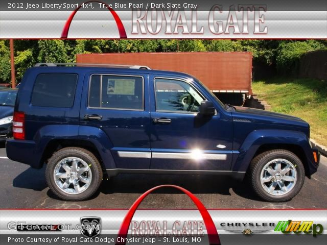 true blue pearl 2012 jeep liberty sport 4x4 dark slate. Black Bedroom Furniture Sets. Home Design Ideas