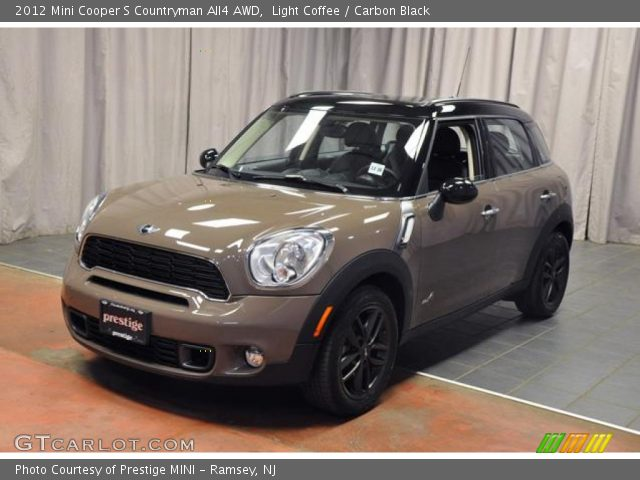 light coffee 2012 mini cooper s countryman all4 awd carbon black interior. Black Bedroom Furniture Sets. Home Design Ideas