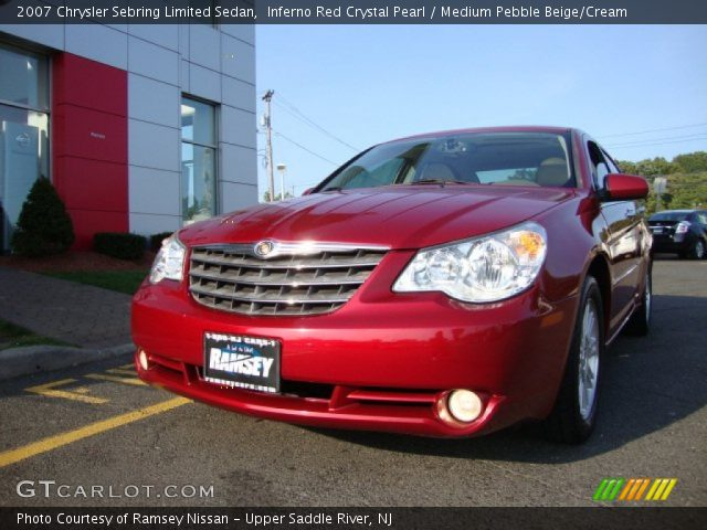 inferno red crystal pearl 2007 chrysler sebring limited. Black Bedroom Furniture Sets. Home Design Ideas