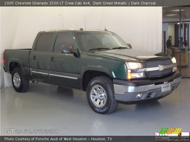 dark green metallic 2005 chevrolet silverado 1500 lt crew cab 4x4 dark charcoal interior. Black Bedroom Furniture Sets. Home Design Ideas