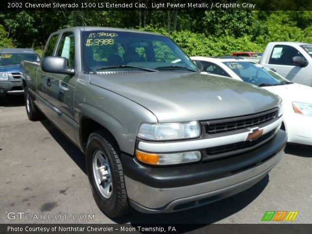Light Pewter Metallic 2002 Chevrolet Silverado 1500 Ls Extended Cab Graphite Gray Interior