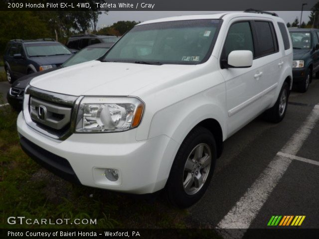 Taffeta White 2009 Honda Pilot Ex L 4wd Gray Interior Vehicle Archive 71337780