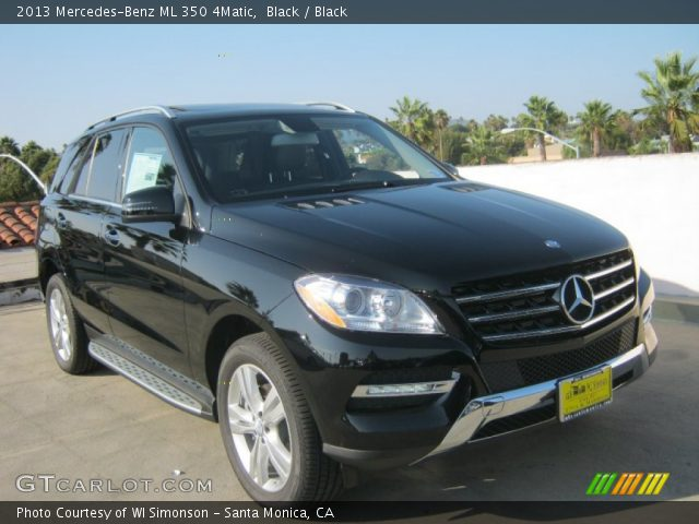 Black 2013 mercedes benz ml 350 4matic black interior for Mercedes benz 350 ml 2013