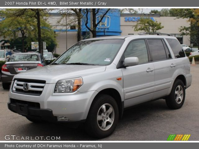 billet silver metallic 2007 honda pilot ex l 4wd gray interior vehicle. Black Bedroom Furniture Sets. Home Design Ideas