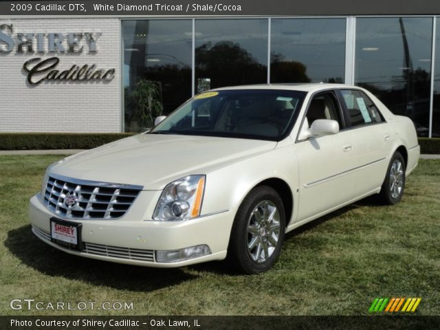 white diamond tricoat 2009 cadillac dts shale cocoa. Black Bedroom Furniture Sets. Home Design Ideas