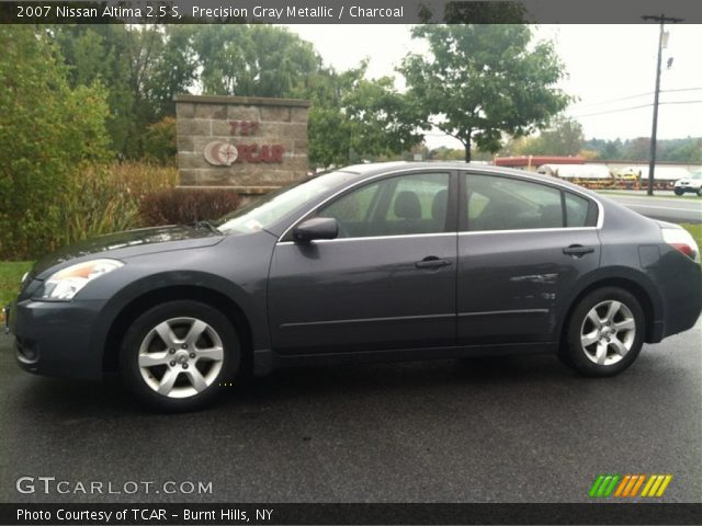 precision gray metallic 2007 nissan altima 2 5 s charcoal interior vehicle. Black Bedroom Furniture Sets. Home Design Ideas