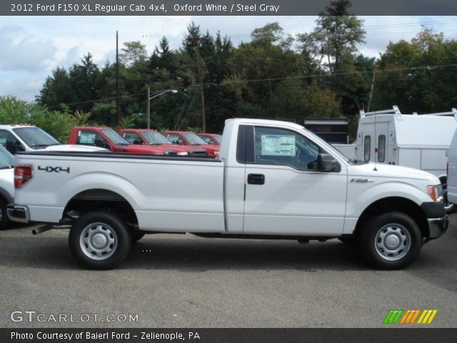 oxford white 2012 ford f150 xl regular cab 4x4 steel gray interior vehicle. Black Bedroom Furniture Sets. Home Design Ideas
