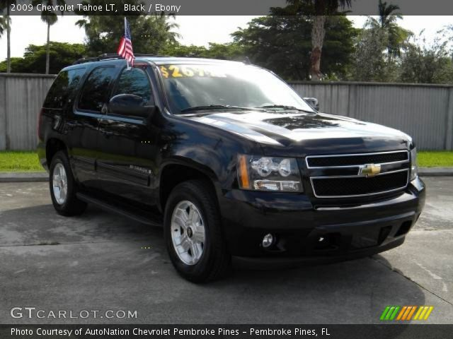 black 2009 chevrolet tahoe lt ebony interior. Black Bedroom Furniture Sets. Home Design Ideas